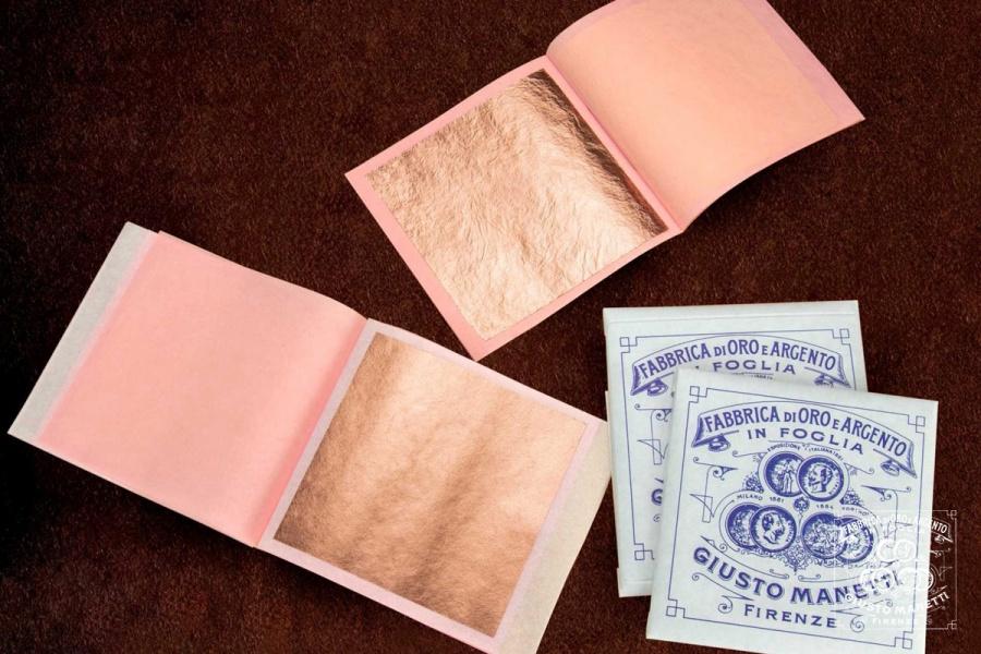 Лист розового золота - эксклюзивная продукция компании Манетти