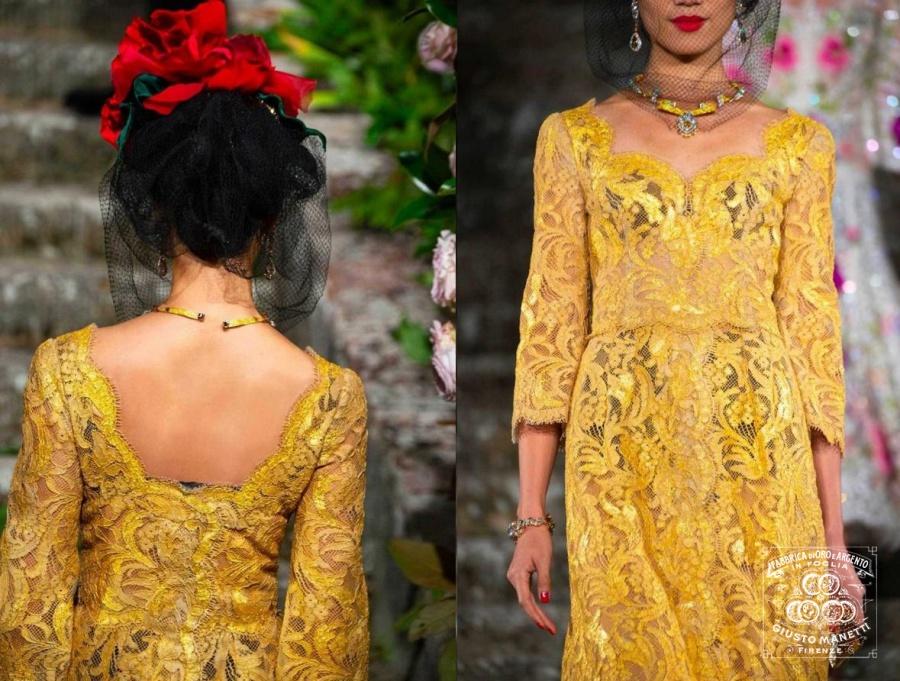 Сусальное золото Джусто Манетти Баттилоро для Dolce & Gabbana